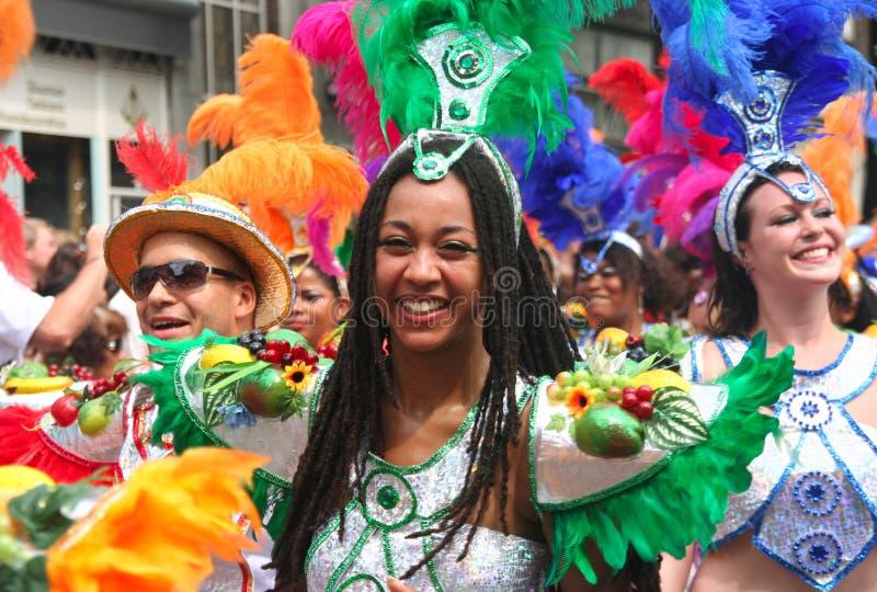 karnevaldrottning royaltyfria bilder