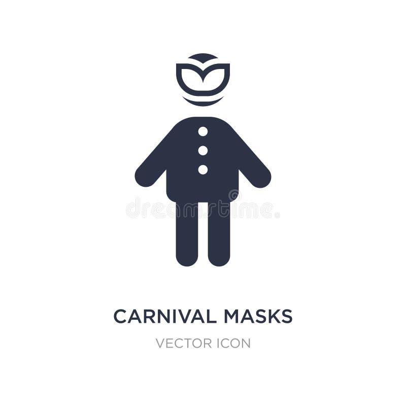Karnevalet maskerar symbolen på vit bakgrund Enkel beståndsdelillustration från folkbegrepp vektor illustrationer