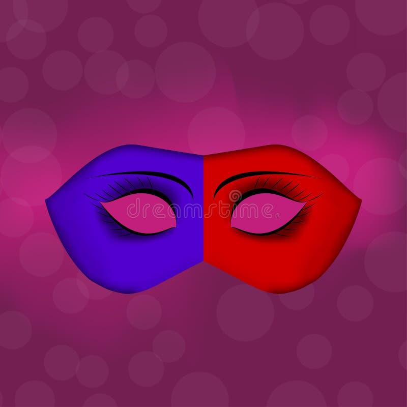 karnevalet maskerar venetian Beröm och gyckel royaltyfri illustrationer