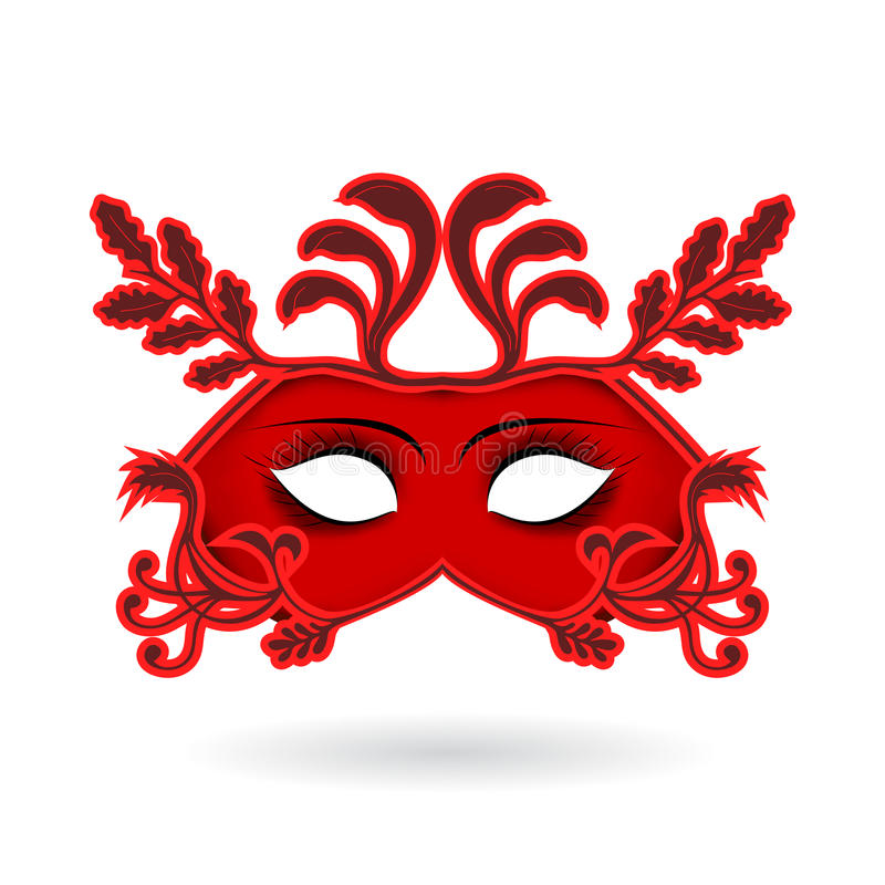 karnevalet maskerar venetian Beröm och gyckel vektor illustrationer