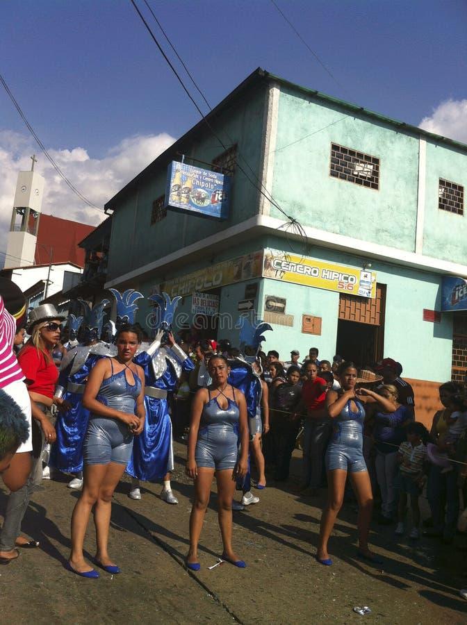 Karnevalet ståtar i Bocono, Venezuela fotografering för bildbyråer