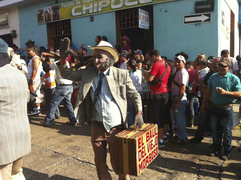 Karnevalet ståtar i Bocono, Venezuela arkivfoto