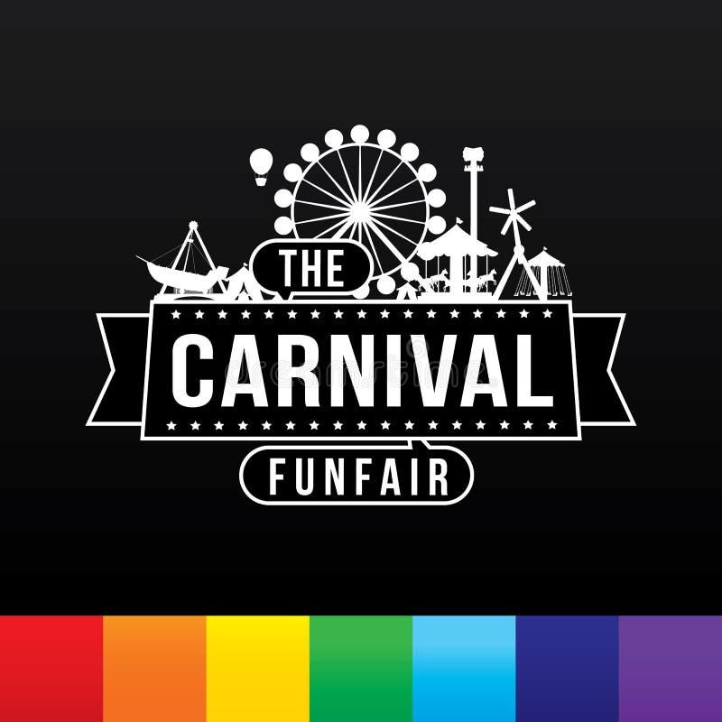 Karnevalfunfairen royaltyfri illustrationer