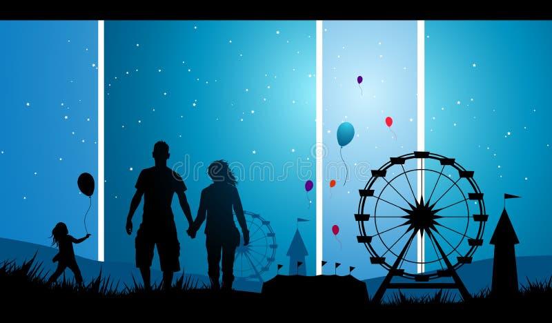 karnevalgyckel vektor illustrationer