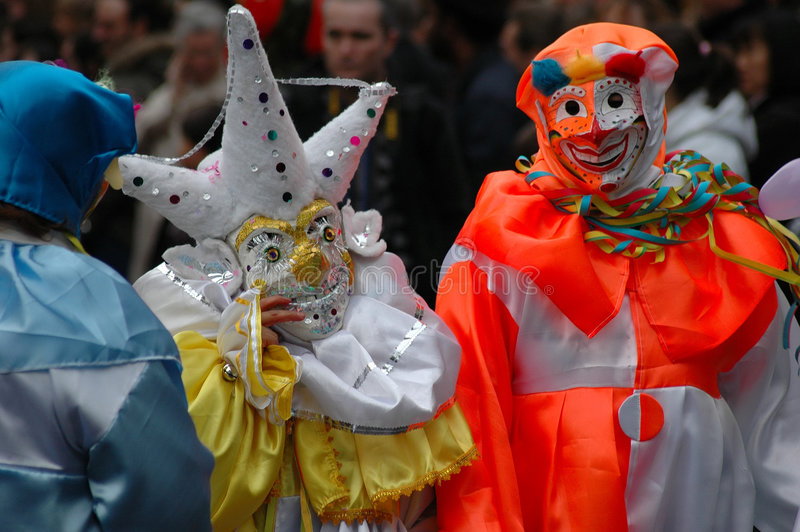 karnevalgyckelmakare arkivbild