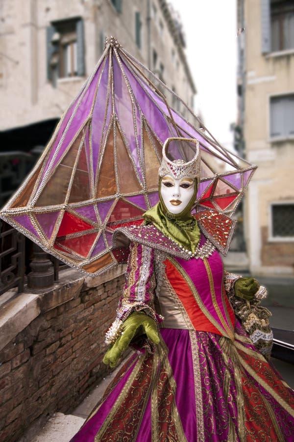 karnevalitaly maskering venice arkivbilder
