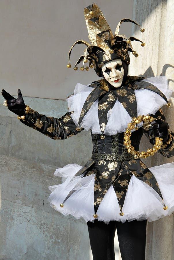 karnevaljoker 2012 venice arkivfoton
