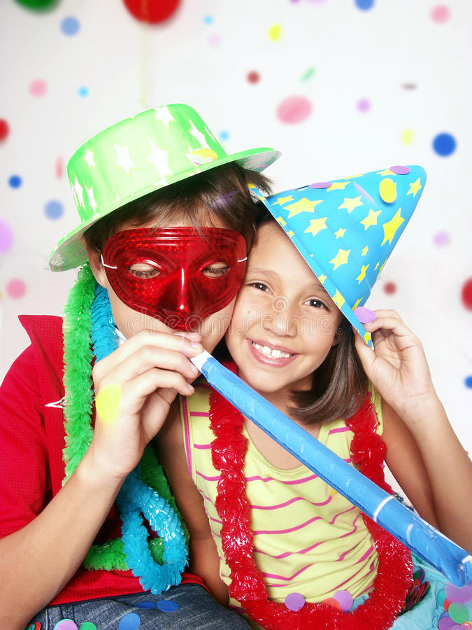karnevalkidds royaltyfria bilder
