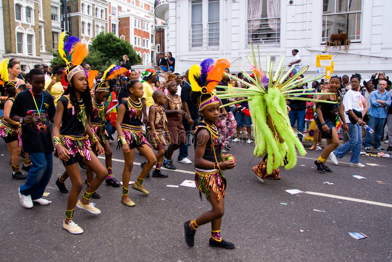 karnevalkull som notting arkivbild
