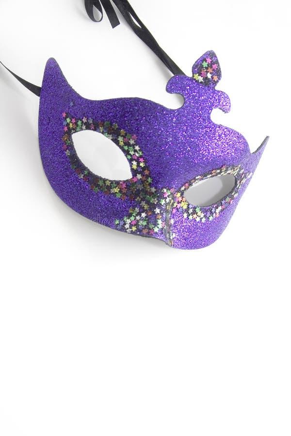 karnevalmaskeringsviolet royaltyfri fotografi