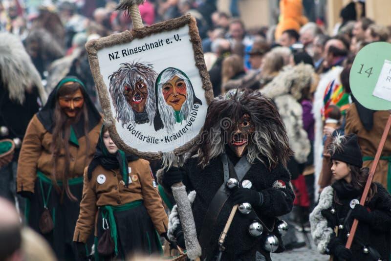 Karnevals-Charaktere stockbild