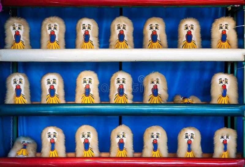 Karnevals-Clown Ball Game lizenzfreie stockbilder