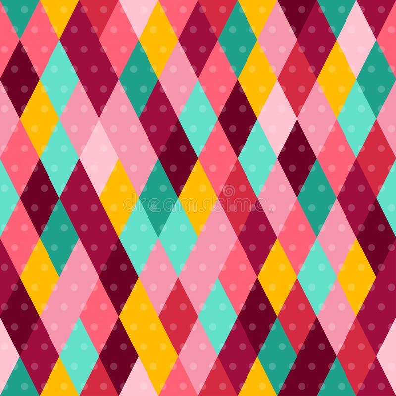 Karnevals-nahtloses Muster mit bunter Raute stock abbildung