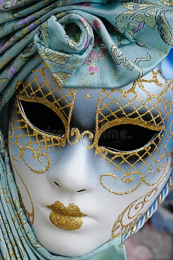 Karnevals-Schablone, Venedig stockbild