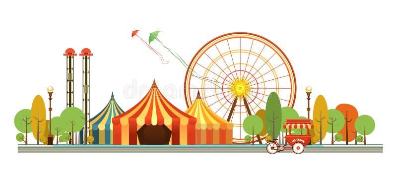 Karnevals-Stadt-Park lizenzfreie abbildung