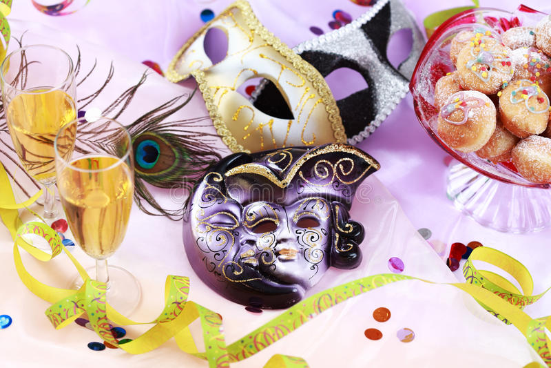 Karnevals- und Partyplatzeinstellung stockfoto