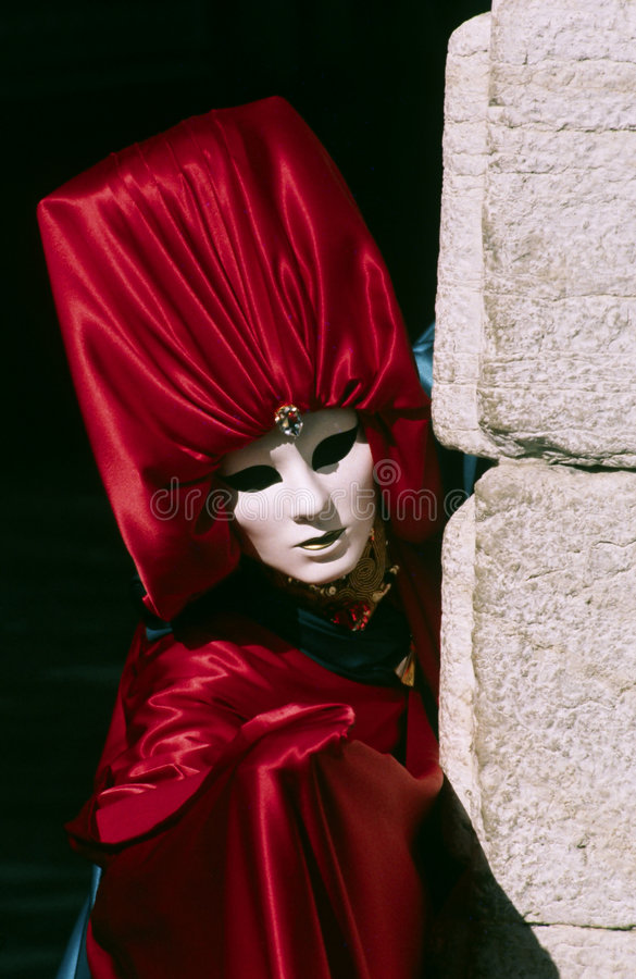 Karnevals-venetianische Schablone stockbild