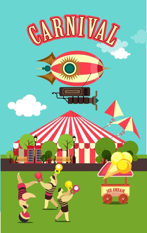 Karnevals-Vergnügungspark stock abbildung