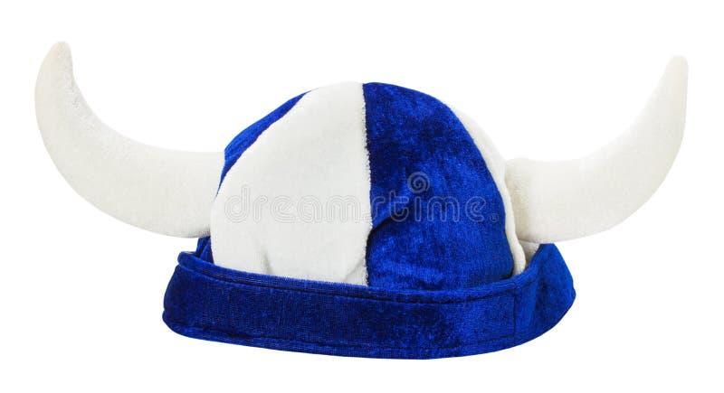 Karnevals-Viking-Hut lokalisiert auf dem weißen Hintergrund stockfoto
