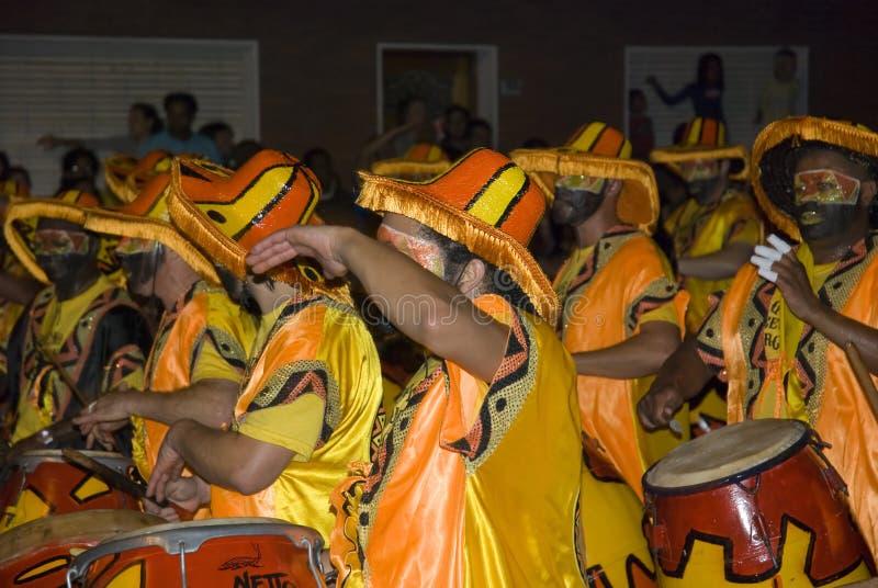 Karnevalsband in Montevideo, Uruguay, 2008. stockbilder