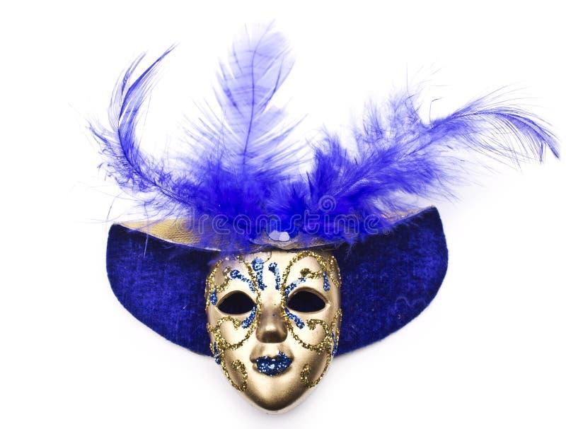 Karnevalsmaske verziert mit Designen stockbild