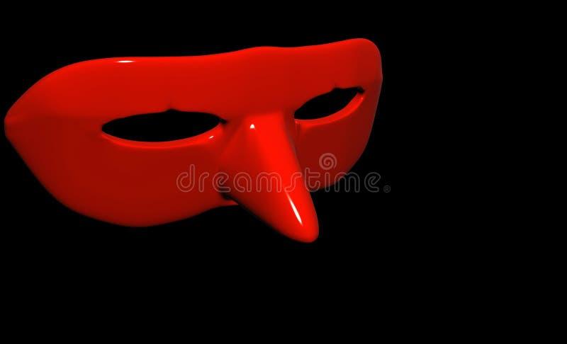 Karnevalsmasken lizenzfreie abbildung