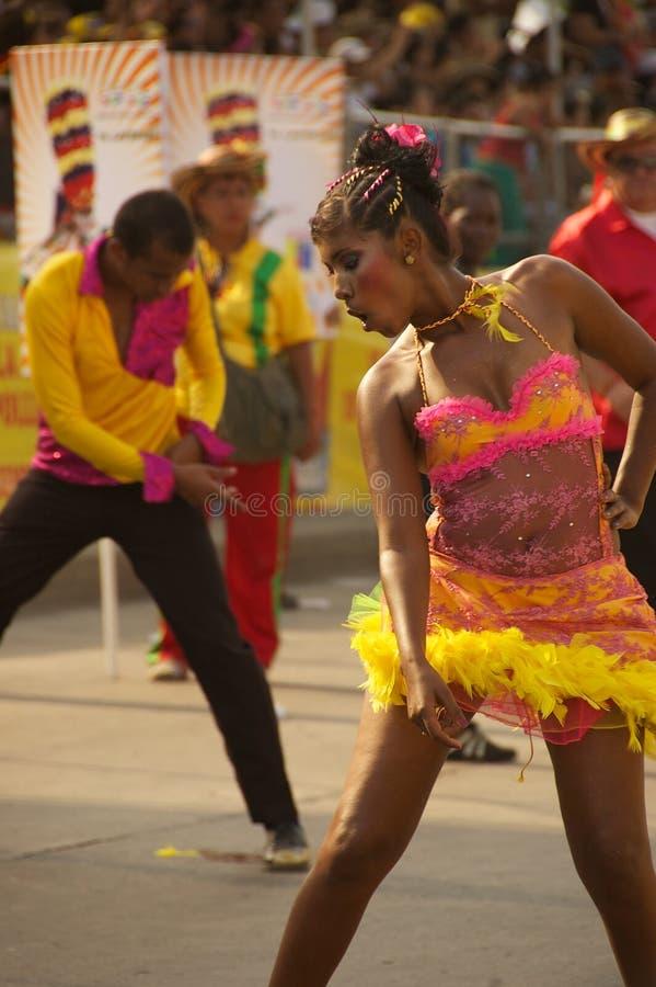 Karnevalsparade in Baranquilla, Kolumbien lizenzfreies stockbild