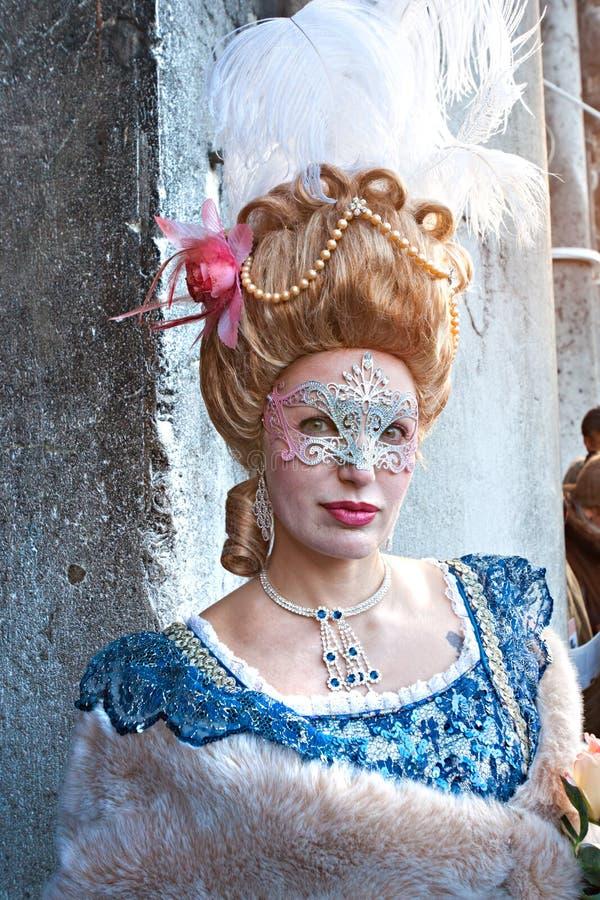 Karnevalsschablone in Venedig, Italien. lizenzfreies stockfoto
