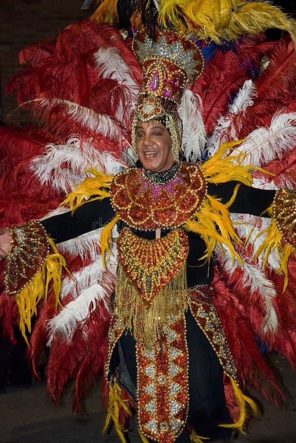 Karnevalstänzer in Montevideo lizenzfreie stockfotos