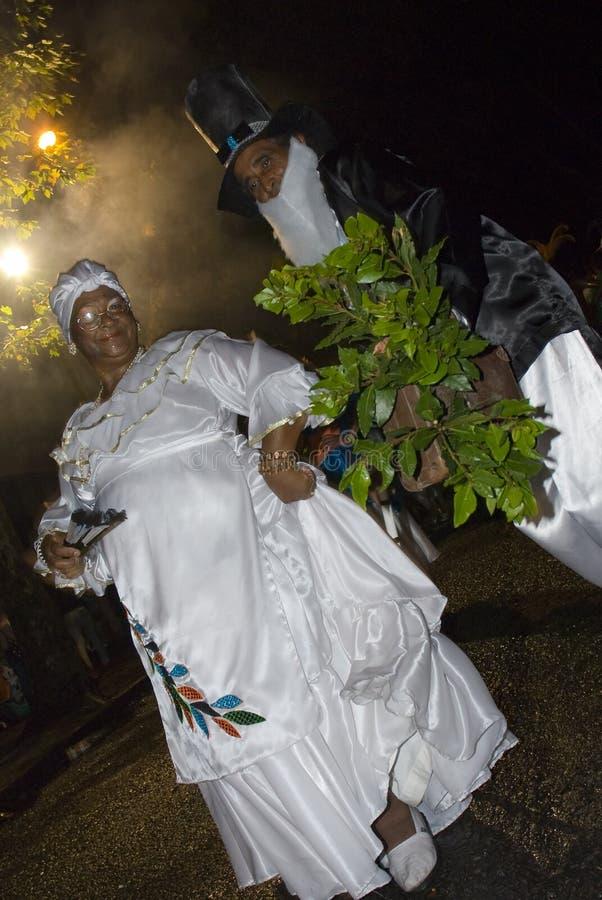 Karnevalstänzer in Montevideo, Uruguay, 2008. stockfotos