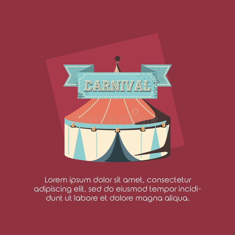 Karnevalszelt-Spaßmesse-Zirkusretrostil vektor abbildung
