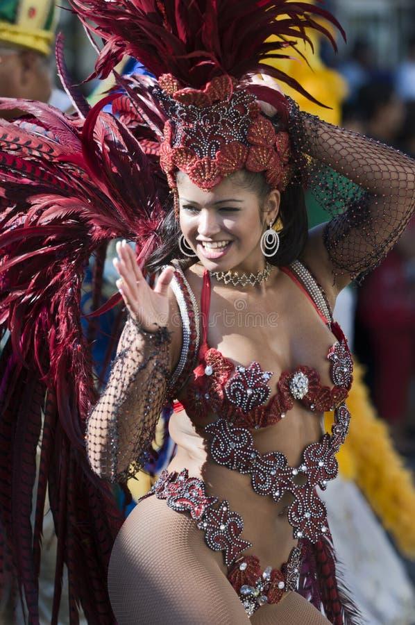 Karnevalteilnehmer lizenzfreie stockfotos