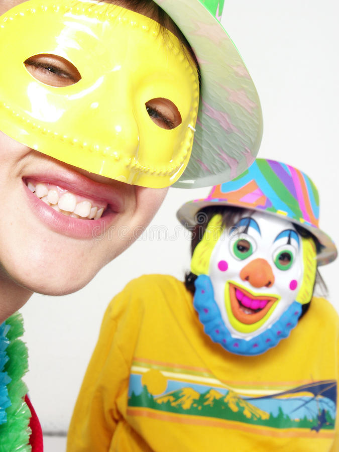 karnevalungar arkivfoto