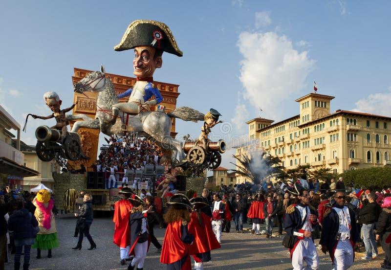 karnevalviareggio royaltyfria bilder