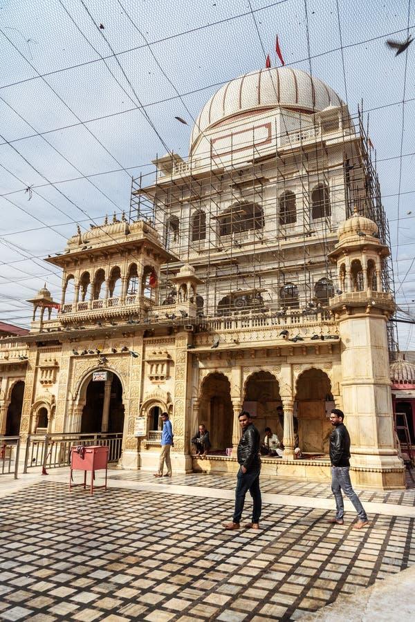 Karni Mata Temple o tempio dei ratti in Deshnok Il Ragiastan L'India fotografia stock