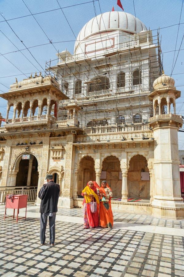 Karni Mata Temple o templo de las ratas en Deshnok Rajasth?n La India fotografía de archivo libre de regalías