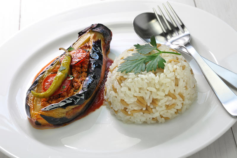 Karniyarik, turkish cuisine royalty free stock images
