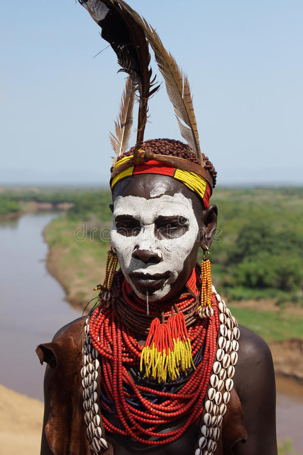 Karo, Эфиопия, Африка стоковое изображение rf