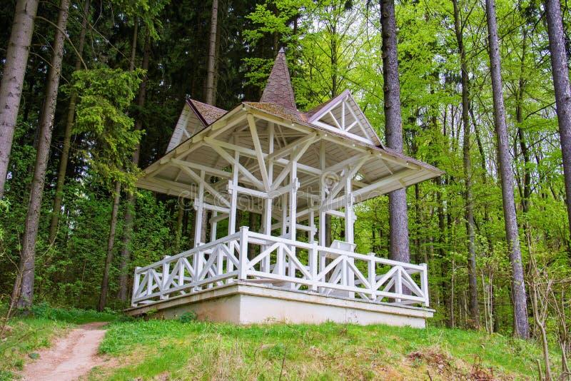 Karola-Ausblick - Marianske Lazne Marienbad - Tschechische Republik stockfoto