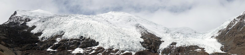 Karola Glacier fotografia stock