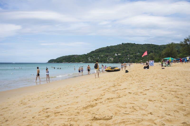 Karon海滩在普吉岛泰国 天2018年12月18日 库存照片
