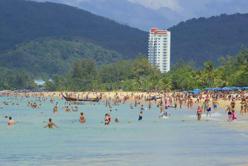 Karon海滩区域在普吉岛,泰国 库存图片