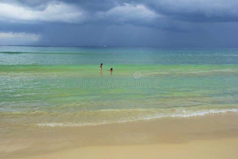 Karon海滩区域在普吉岛,泰国 库存照片