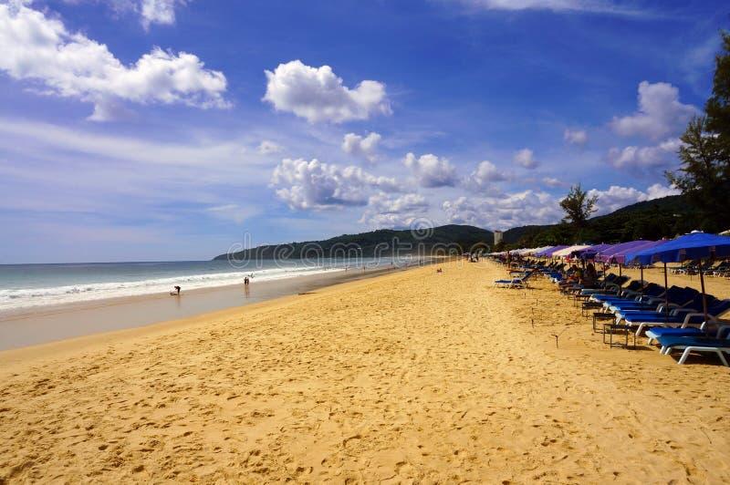 Karon海滩的视图 免版税库存照片