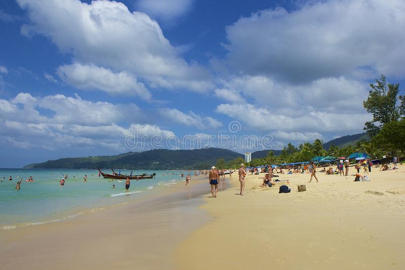 Karon beach area in Phuket, Thailand royalty free stock photography