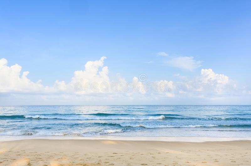 Karon beach in the morning. Phuket, Thailand stock photos
