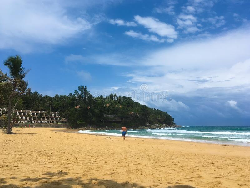 Karon beach. View over Karon beach in Phuket, Thailand stock photos