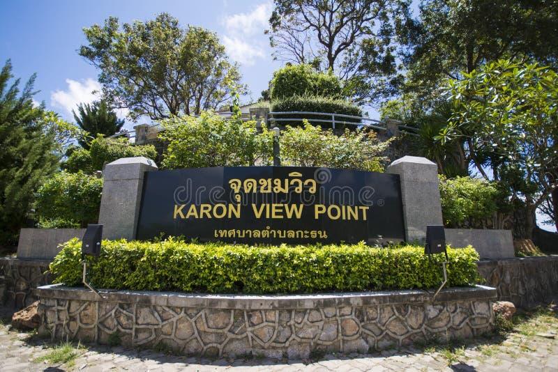 Karon PHUKET, THAILAND 29. August 2015 Standpunkt, können wir Ka sehen stockfotos