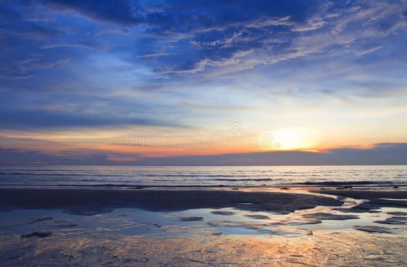 karon plażowy zmierzch zdjęcia stock