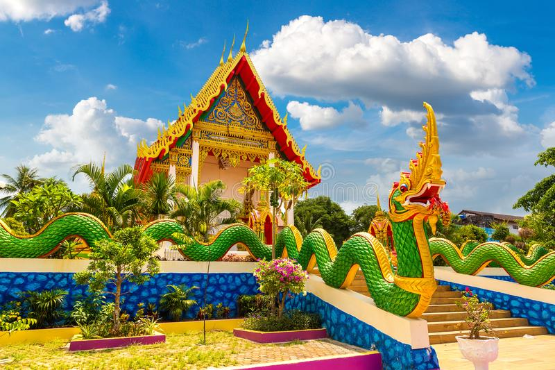 Karon Temple at Phuket. In Thailand in a summer day stock images
